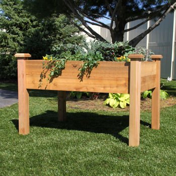 Gronomics Rustic Elevated Garden Bed 24