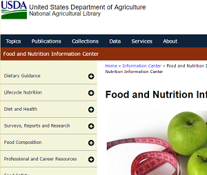 USDA Food and Nutrition Info Center