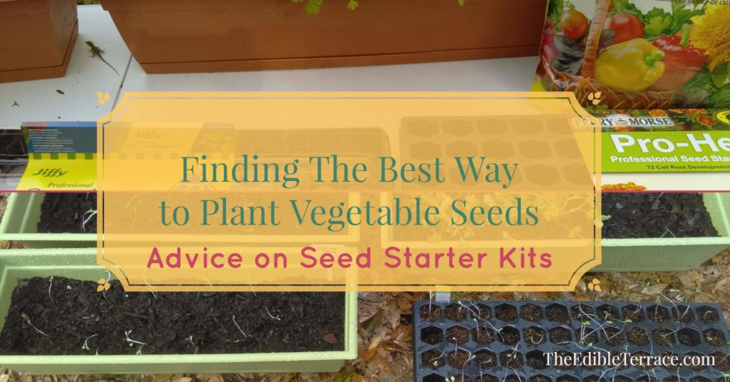 Since it is the season for indoor seed germination, AND because I am an enthusiastic new gardener I am dying to try out some of the Seed Starter Kits.