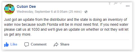 Out of water Irma Hurricane